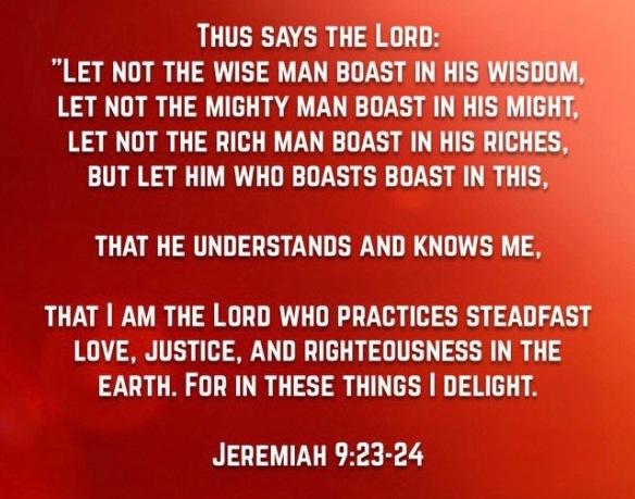 Jer. 9 23,24 (1)