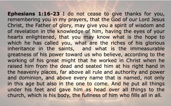 Eph 1 16-
